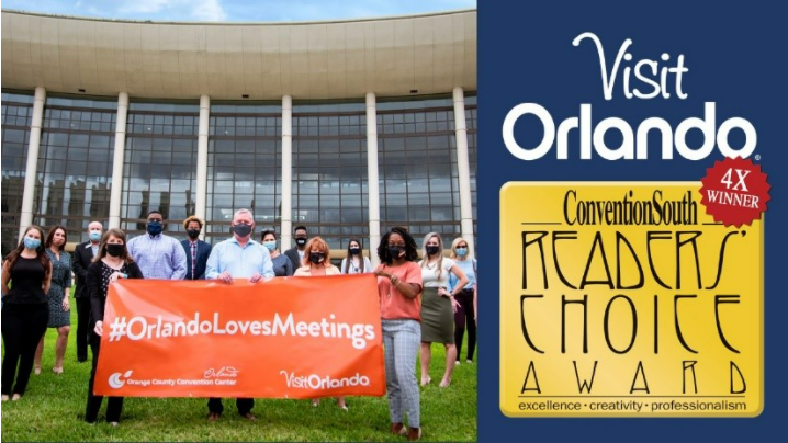 Visit Orlando has been honored with ConventionSouth's annual Readers' Choice Award
