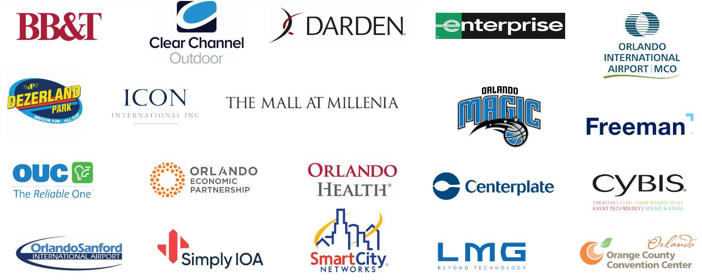 Sponsors of Visit Orlando's Travel & Tourism Event