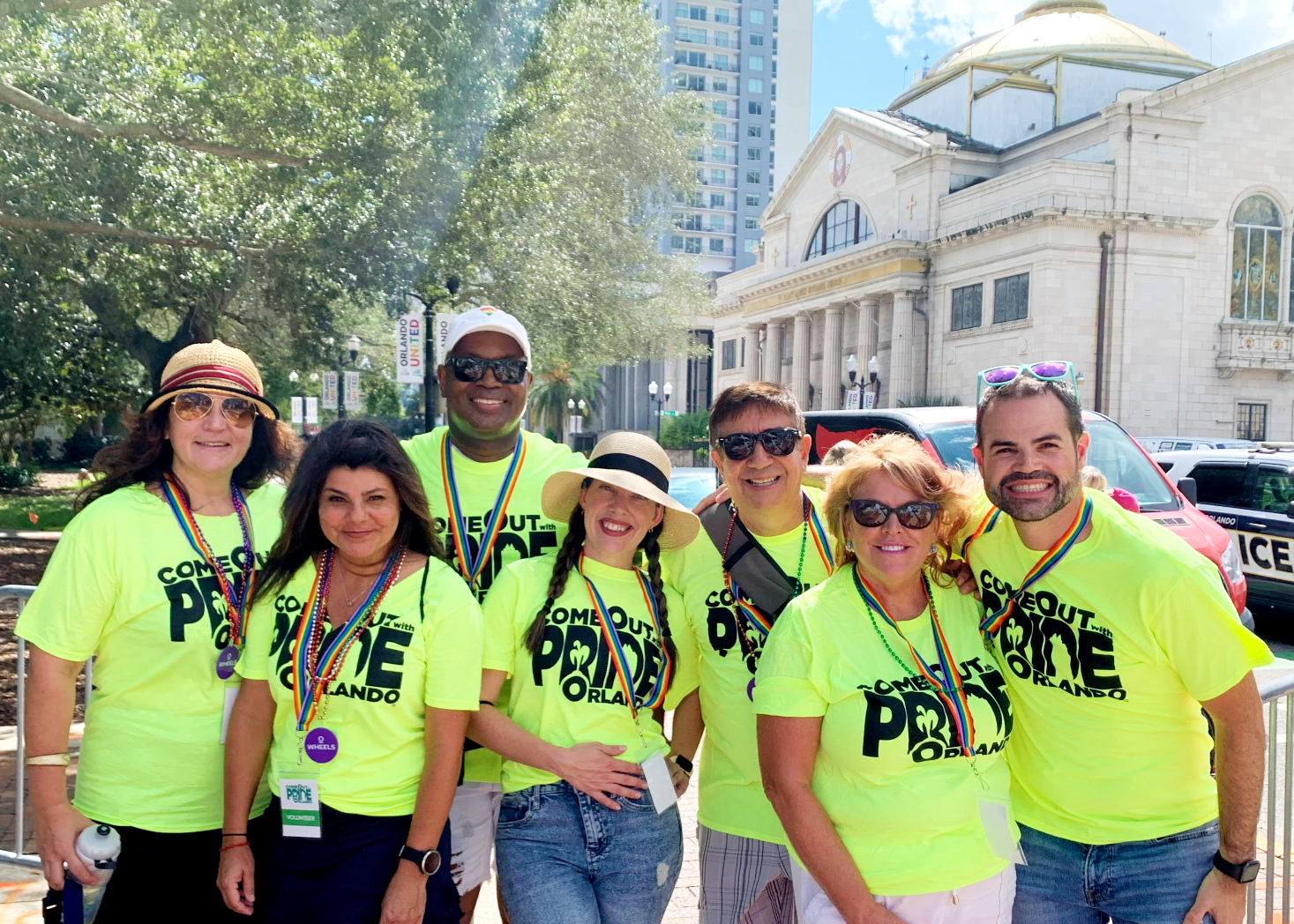 Visit Orlando staff volunteering at Come Out With Pride
