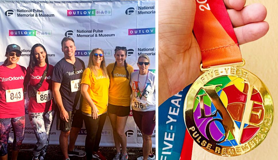 Visit Orlando staff participate in the5th Annual CommUNITY Rainbow Run